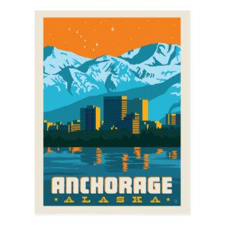 Cartão Postal Economias de Anchorage, Alaska   a data