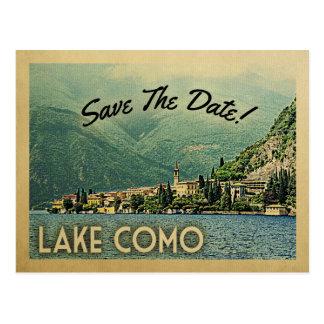 Cartão Postal Economias de Como do lago a data Menaggio Italia