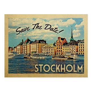 Cartão Postal Economias de Éstocolmo a suecia da data