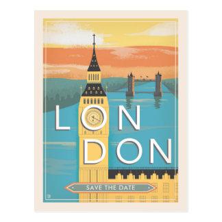 Cartão Postal Economias de Londres | a data