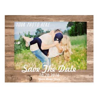Cartão Postal Economias de madeira o branco da data