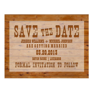 Cartão Postal Economias de madeira rústicas a data