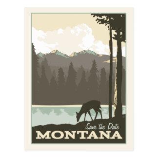Cartão Postal Economias de Montana   a data