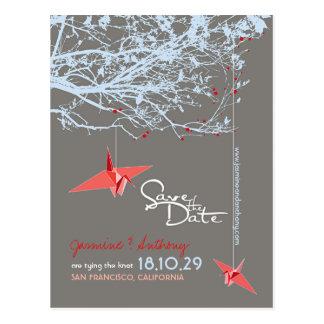 Cartão Postal Economias de papel da foto do zen da árvore dos
