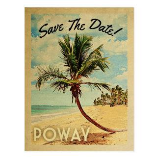 Cartão Postal Economias de Poway Califórnia o vintage da data