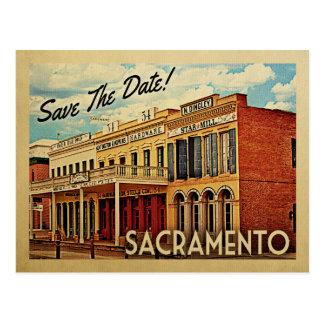 Cartão Postal Economias de Sacramento a data Califórnia