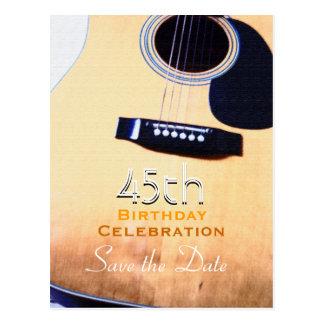 Cartão Postal Economias do aniversário da guitarra popular 45th