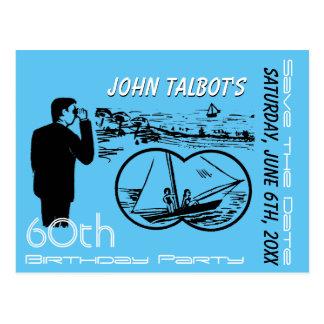 Cartão Postal Economias do aniversário do veleiro dos binóculos