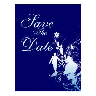 Cartão Postal Economias do azul o anúncio do casamento da data