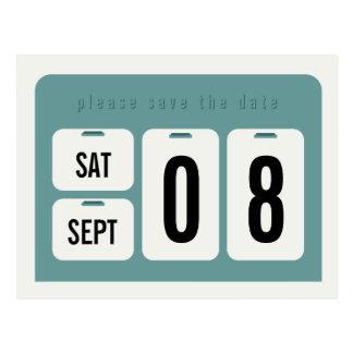 Cartão Postal Economias do calendário perpétuo o anúncio da data
