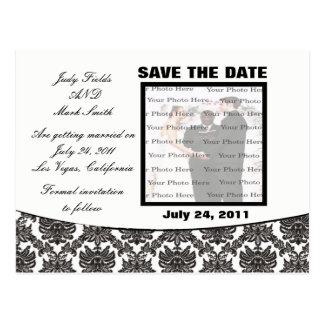 Cartão Postal Economias do casamento da elegância do damasco o