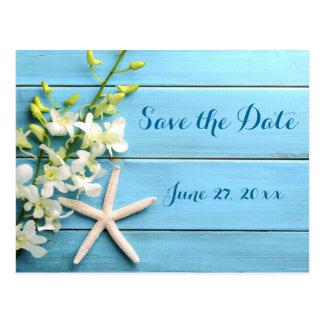 Cartão Postal Economias do casamento da estrela do mar as datas