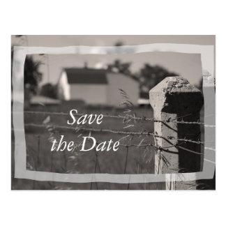 Cartão Postal Economias do casamento da fazenda do país o