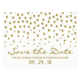 Cartão Postal Economias do casamento das bolinhas do ouro a data