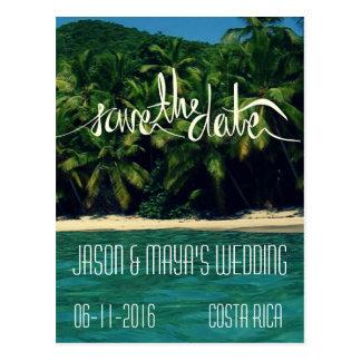 Cartão Postal Economias do casamento de praia de Costa Rica a