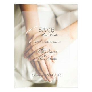 Cartão Postal Economias do casamento do anel de diamante da