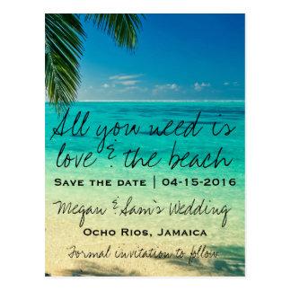 Cartão Postal Economias do casamento do destino de Jamaica a