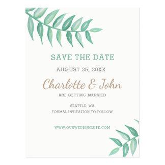 Cartão Postal Economias do casamento do louro das hortaliças a