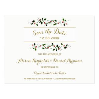 Cartão Postal Economias do casamento no inverno do feriado do