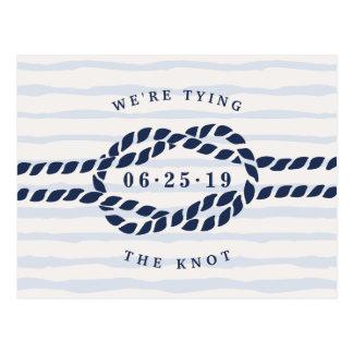 Cartão Postal Economias do nó de amor a data