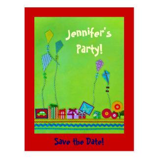 Cartão Postal Economias do partido a data