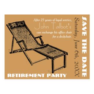 Cartão Postal Economias do partido de aposentadoria de Deckchair