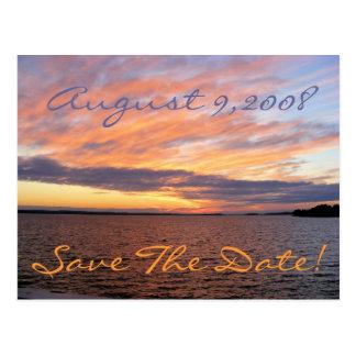 Cartão Postal Economias do por do sol a data!