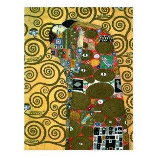 Cartão Postal Economias do vintage a data, realização por Klimt