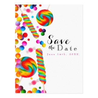 Cartão Postal Economias doces da festa de aniversário dos doces