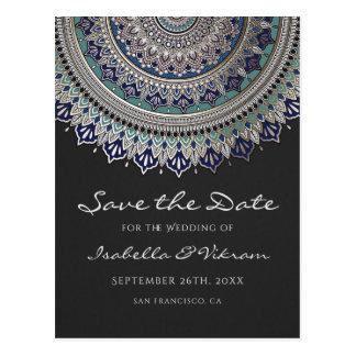 Cartão Postal Economias elegantes do casamento da mandala os