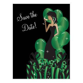 Cartão Postal Economias elegantes do partido   da menina da diva