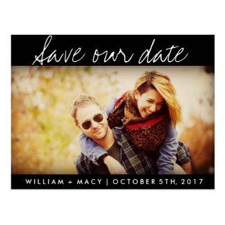 Cartão Postal Economias feitas sob encomenda pretas do casamento