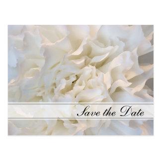 Cartão Postal Economias florais brancas de Quinceañera a data