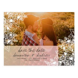 Cartão Postal Economias florais da foto da mandala de Boho o