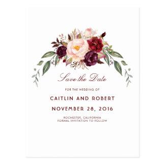 Cartão Postal Economias florais de Borgonha a data