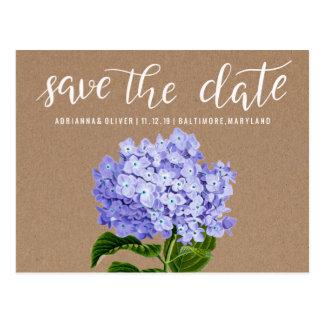 Cartão Postal Economias florais dos Hydrangeas rústicos do papel