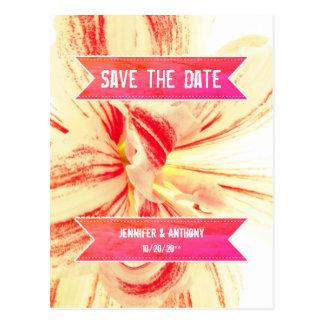 Cartão Postal Economias listradas do casamento da flor do