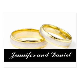 Cartão Postal Economias que do casamento do Natal os anéis de