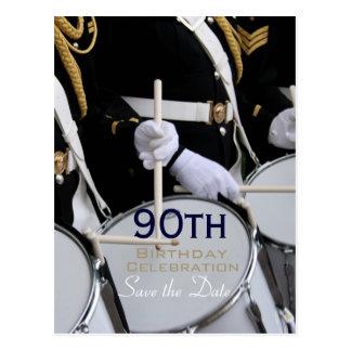 Cartão Postal Economias reais do aniversário do 90 da banda de