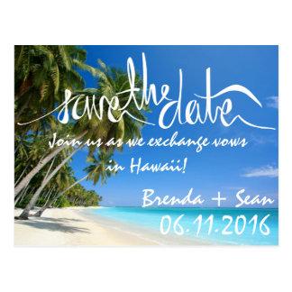 Cartão Postal Economias tropicais da praia da areia branca os
