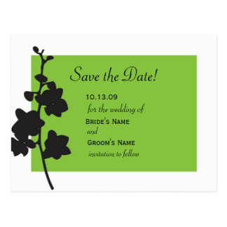 Cartão Postal Economias verdes da orquídea a data