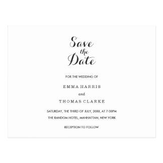 Cartão Postal Economias | Wedding elegantes simples o cargo da