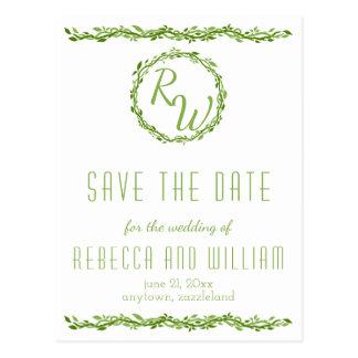 Cartão Postal Economias Wedding Woodsy da videira da elegância |