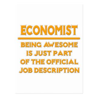 Cartão Postal Economista. Enumeração das funções oficial
