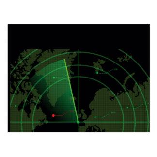 Cartão Postal Ecrã de radar retro