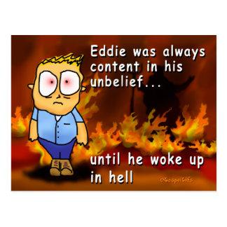 Cartão Postal Eddie acorda no inferno