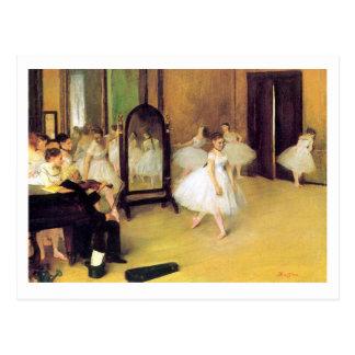 Cartão Postal Edgar Degas | a classe de dança