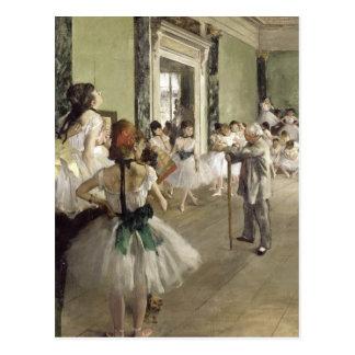 Cartão Postal Edgar Degas | a classe do balé