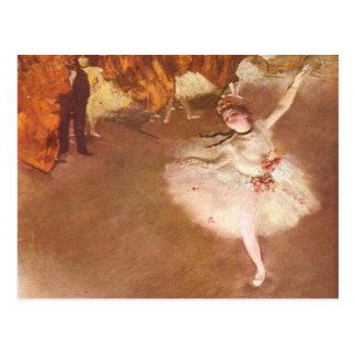 Cartão Postal Edgar Degas a estrela