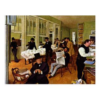 Cartão Postal Edgar Degas - a troca do algodão